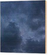 Storm Roars Wood Print