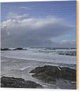Storm Rolling In Wickaninnish Beach Wood Print