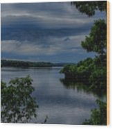 Storm Rolling Over Lake Wausau Wood Print