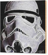 Storm Trooper Helmet Wood Print