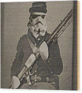 Storm Trooper Star Wars Antique Photo Wood Print by Tony Rubino