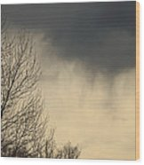 Storm Virga Over Rogue Valley Wood Print