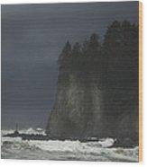Storm At Lapush Washington State Wood Print