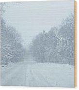 Stormin Down Easton Street Wood Print