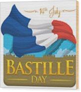 Storming Of The Bastille Representation Wood Print