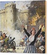 Storming The Bastille Wood Print