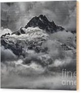 Storms Over Glaciers And Rugged Peaks Wood Print
