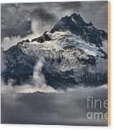 Storms Over Jagged Peaks Wood Print
