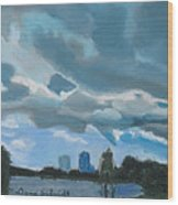 Storms Rolling In Over Lake Highland In Orlando Wood Print