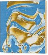 Stormtrooper Helmet 30 Wood Print