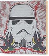 Stormtrooper Tattoo Art Wood Print by Gary Niles