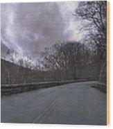 Stormy Blue Ridge Parkway Wood Print by Betsy Knapp