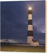 Stormy Bodie Lighthouse Outer Banks I Wood Print