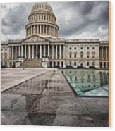 Stormy Capitol Day I Wood Print