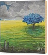 Stormy Clouds Wood Print by Alicia Maury