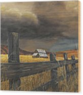 Stormy Clouds Wood Print
