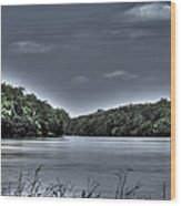 Stormy Day On The Potomac River Wood Print