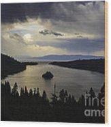 Stormy Emerald Bay Wood Print