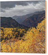 Stormy Fall Along The Alpine Loop - Utah Wood Print