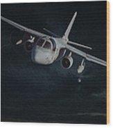 Stormy Flight Wood Print