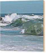 Stormy Lagune - Blue Seascape Wood Print