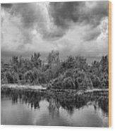 Stormy Lake Trafford Wood Print
