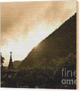 Stormy Light Switzerland Wood Print