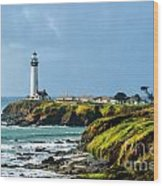 Stormy Lighthouse Wood Print