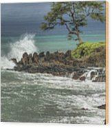 Stormy Maui Morning Wood Print