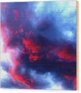 Stormy Monday Blues Wood Print