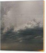 Stormy Nebraska Sunset Wood Print
