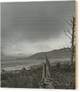 Stormy Oregon Coast Wood Print