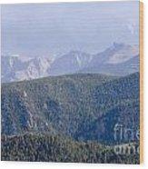 Stormy Pikes Peak Wood Print