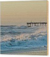 Stormy Seas Avon Pier 9 11/03 Wood Print