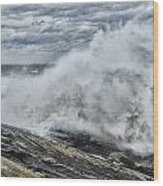 Stormy Seas Wood Print