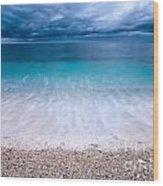 Stormy Seascape Wood Print