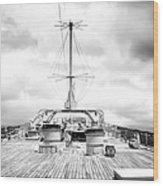 Stormy Ship Wood Print