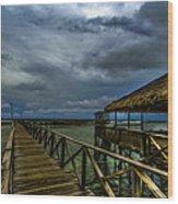 Stormy Siargao Wood Print