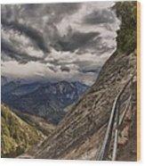 Stormy Skies On Moro Rock Wood Print