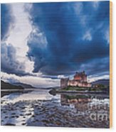 Stormy Skies Over Eilean Donan Castle Wood Print