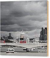 Stormy Skies Over London Wood Print