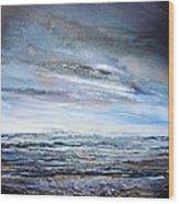 Stormy Sky  Hauxley Haven Series Blue Wood Print
