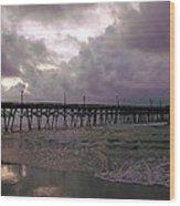 Stormy Sky In Myrtle Beach Wood Print