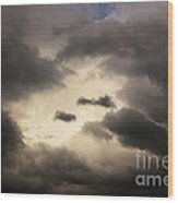Stormy Sky With A Bit Of Blue Wood Print