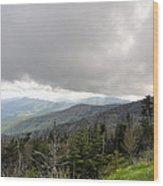 Stormy Smoky Mountains Wood Print