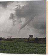 Stormy Spring Sunday Wood Print