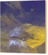 Stormy Stormy Night Wood Print