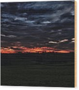 Stormy Sunset Wood Print by Miguel Winterpacht