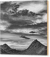 Stormy Sunset Over Nevada Desert Wood Print