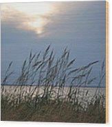 Stormy Sunset Prince Edward Island II Wood Print by Micheline Heroux